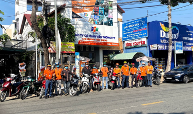 FPT Telecom Tiền Giang chạy roadshow chào mừng năm mới 2021