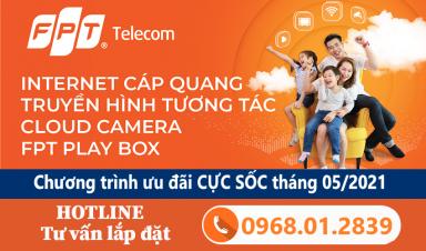 Lắp Combo Wifi Camera FPT siêu khuyến mãi tại Tiền Giang